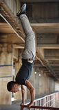 Man parkour in urban space. Royalty Free Stock Photography