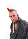 Man in party hat Royalty Free Stock Image