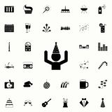 man with a party hat icon. Party icons universal set for web and mobile royalty free illustration