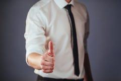 A man passing by using biometric fingerprint Stock Photos
