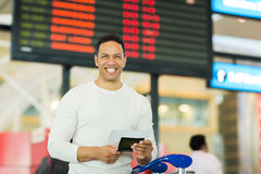 Man passport boarding pass Stock Photography