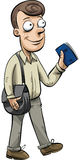 Man with Passport Stock Images