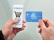 Man paying with credit card Stock Image