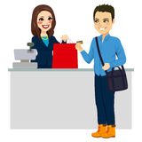 Man Paying With Credit Card vector illustration