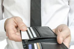 Man paying with credit cards Royalty Free Stock Images