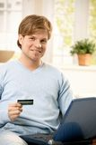 Man paying online Stock Images