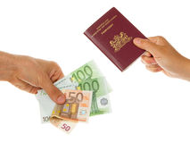 Man paying for passport Royalty Free Stock Photos