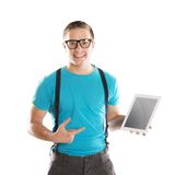 Man with pc tablet Royalty Free Stock Photography