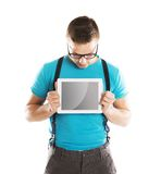 Man with pc tablet Royalty Free Stock Images