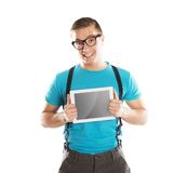 Man with pc tablet Stock Photos