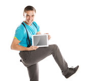 Man with pc tablet Royalty Free Stock Photo