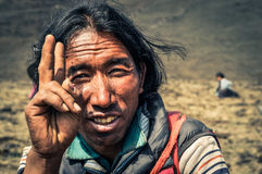 Man and peace in Nepal royalty free stock photos