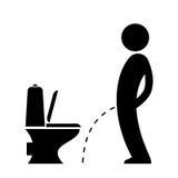 Man peeing on the floor pictogram. Man peeing on the floor vector pictogram Stock Photo
