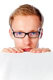 Man peeking Royalty Free Stock Photography
