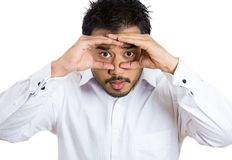 Man peeking Stock Image