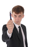 Man with pen Stock Photo