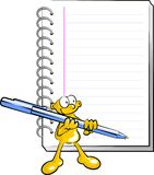 Man with a pen and a notebook stock images