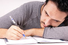 Man with pen Royalty Free Stock Photos