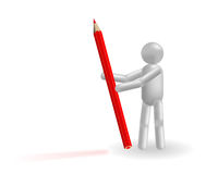 The man and pencil Stock Photography