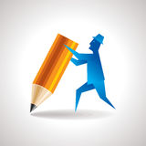 Man with pencil Stock Image