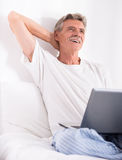 man pensionären Arkivbilder