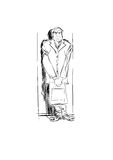 Man people character. A man stands near the wall, leaned against it Stock Images
