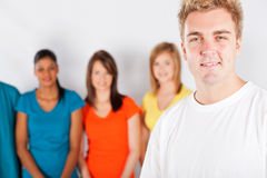 Man and people group Stock Image