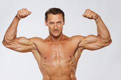 Man with perfect body Royalty Free Stock Photo