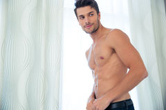 Man with perfect body. Portrait of a happy man with perfect body Stock Images