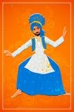 Man performing Bhangra folk dance of Punjab, India Royalty Free Stock Photo