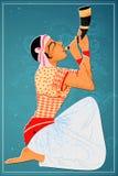 Man performing Bihu folk dance of Assam, India Stock Images