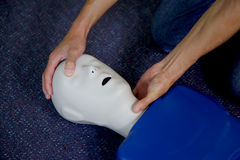 Man performing cpr Royalty Free Stock Images