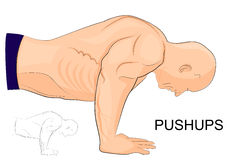 The man performing push-UPS Royalty Free Stock Images