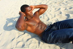 Man Performing Situps Royalty Free Stock Photo