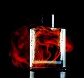 Man perfume on black background Stock Image