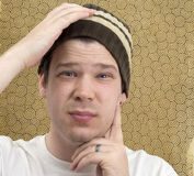 Man with Perplexed Look Stock Photography