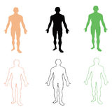 Man. Person's silhouette. Vector illustration Stock Image