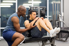 Man personal trainer Royalty Free Stock Images