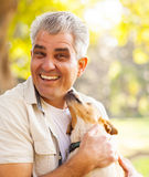 Man pet dog Stock Photo