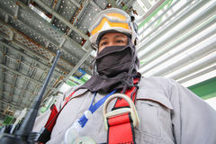 Man in petroleum plant Royalty Free Stock Image