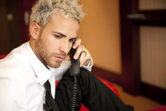 Man on phone Stock Photos