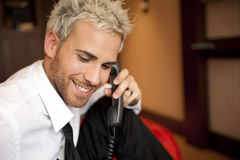 Man at phone Stock Images