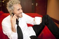 Man at phone Stock Photo