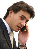 Man on phone. Businessman Talking on a Mobile Phone Stock Photo