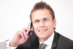 Man on phone Stock Photography