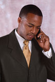Man on phone. An African American man talking on the phone Stock Photo