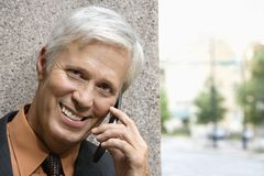 Man on phone. Royalty Free Stock Photography