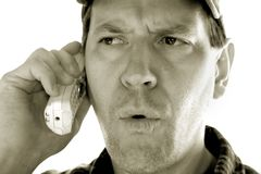 Man on Phone Royalty Free Stock Photos