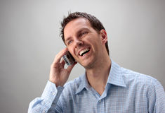 Man on the Phone Royalty Free Stock Photography