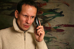 Man with the phone Royalty Free Stock Photography